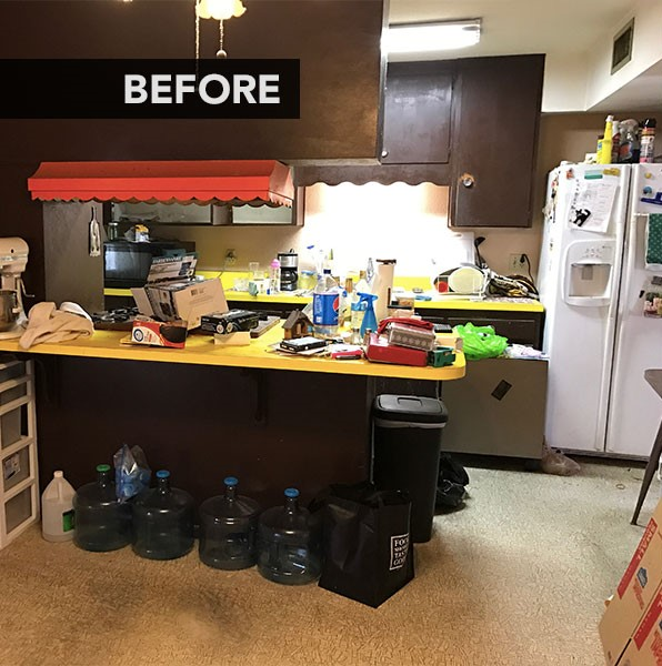 قبل از بازسازی آشپزخانه ویلا