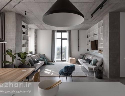دکوراسیون داخلی آپارتمان خاکستری