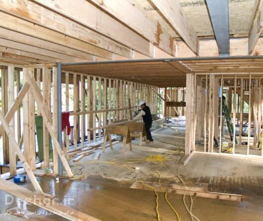 تخریب و بازسازی کامل ساختمان