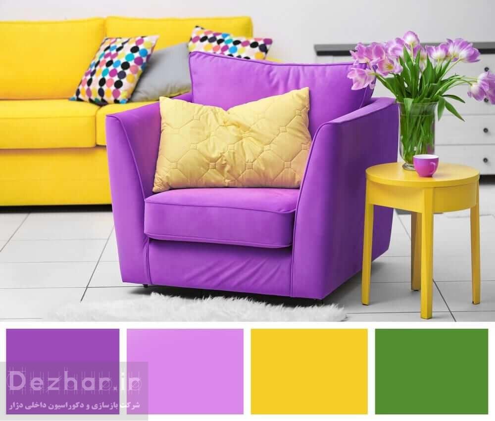 استفاده از ترکیب رنگ ها در دکوراسیون داخلی