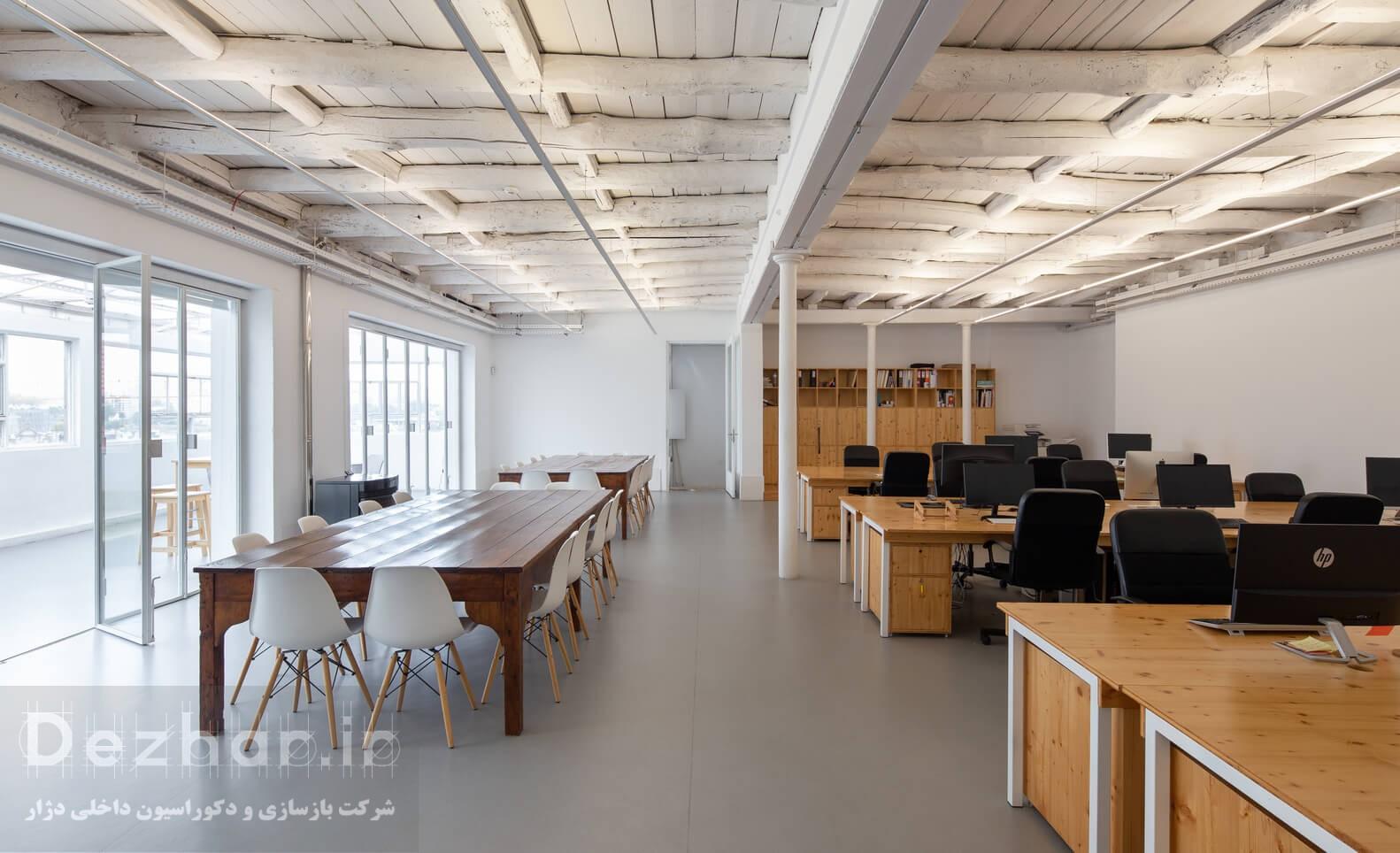 نوسازی محیط های مشترک ساختمان اداری