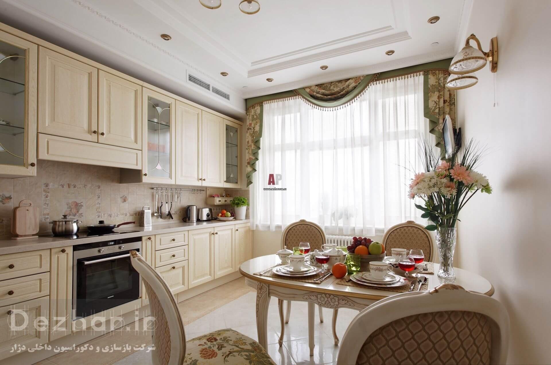 طراحی آشپزخانه به سبک کلاسیک