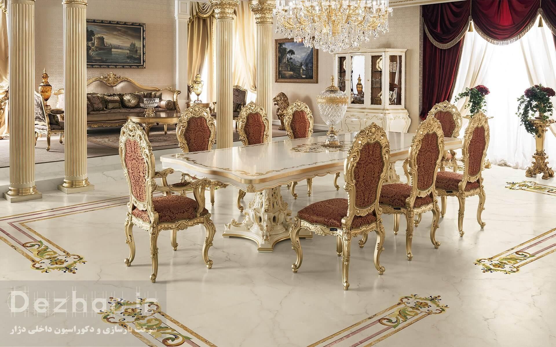 طراحی سالن پذیرایی خانه کلاسیک