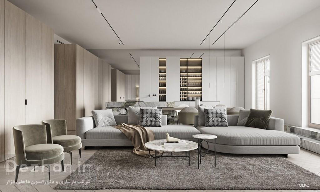 رنگ خنثی خاکستری در طراحی داخلی مدرن