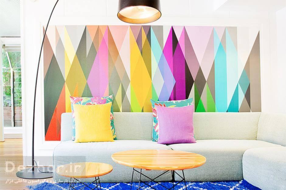 انتخاب کاغذدیواری توسط طراح داخلی خانه