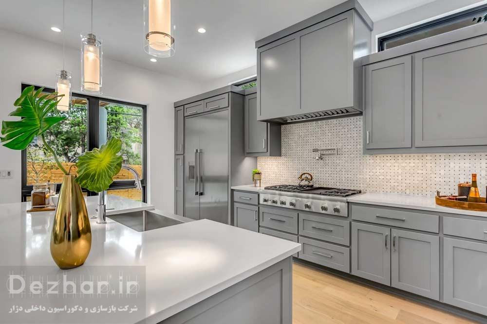 طراحی آشپزخانه مدرن چندبخشی