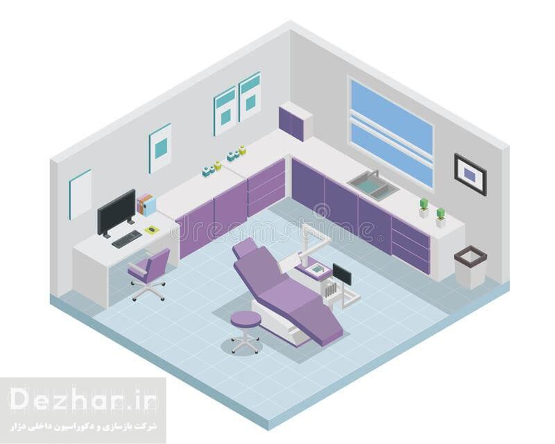 طراحی مدرن مطب دندانپزشکی