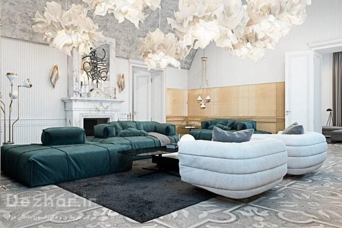 طراحی خانه لوکس با مبلمان مدرن