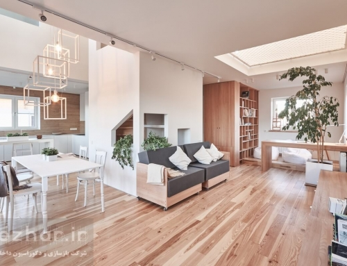 طراحی داخلی آپارتمان کوچک به سبک مدرن