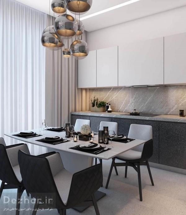نمونه طراحی آشپزخانه مدرن