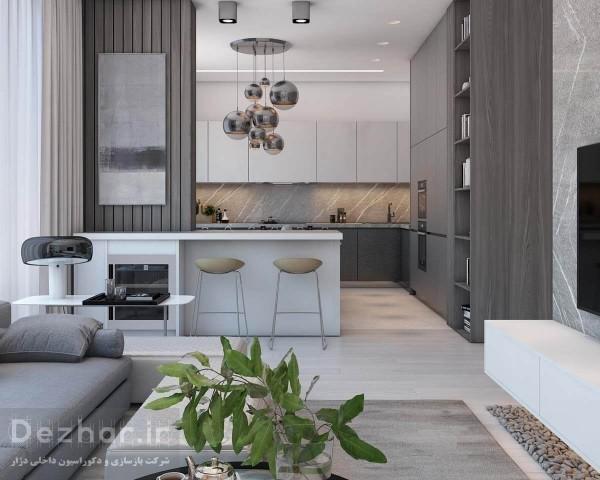 طراحی آپارتمان کوچک با رنگ پاستلی